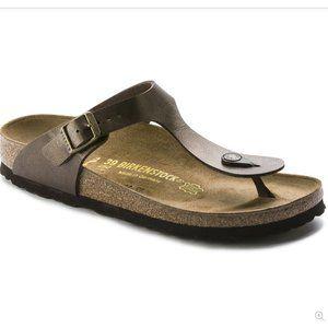 Birkenstocks Gizeh Birko-flor Gold Thong Sandals
